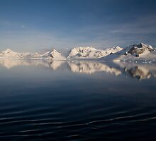 Sunset over the Neumayer Channel, Antarctica - Number two by cpcphoto