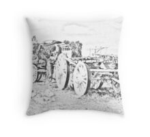 Wagons Roll!! Throw Pillow