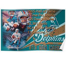 Dan Marino Career Stats  Poster