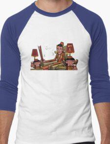 '6 fifths' Dessert Barleywine illustration Men's Baseball ¾ T-Shirt