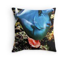 Funny Face Fish  Throw Pillow