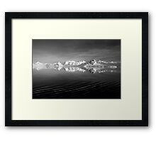 Sunset over the Neumayer Channel, Antarctica - Number three mono Framed Print