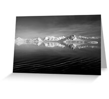 Sunset over the Neumayer Channel, Antarctica - Number three mono Greeting Card