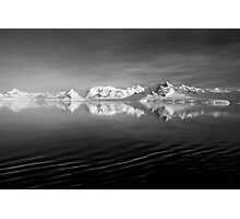 Sunset over the Neumayer Channel, Antarctica - Number three mono Photographic Print