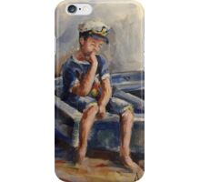 The pensive sailor.... iPhone Case/Skin