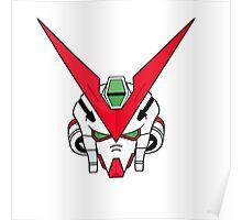 Gundam head - white Poster