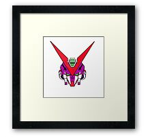Gundam head - purple Framed Print