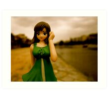 doll at the kamogawa Art Print