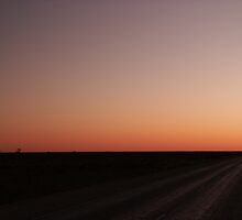 Nullarbor Sunset 18-9-2003 6.26 PM by AndrewBentley