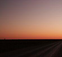 Nullarbor Sunset 18-9-2003 6.26 PM by AndrewBentley