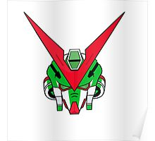 Gundam head - Green Poster