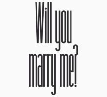 will you marry me? Kids Clothes