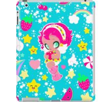 Cute funny girl with a heart pattern iPad Case/Skin