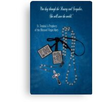 Rosary and Scapular prophesy Canvas Print