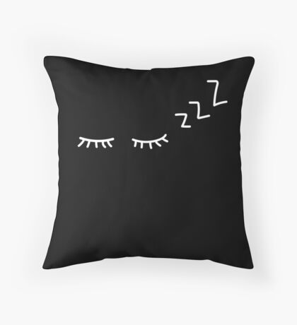 Black dreams Throw Pillow