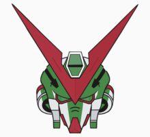 Gundam head - Green One Piece - Short Sleeve