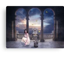 On The Wings Of A Butterfly... Canvas Print