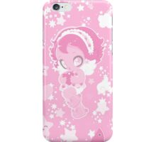 Cute funny girl with a heart pattern pink iPhone Case/Skin