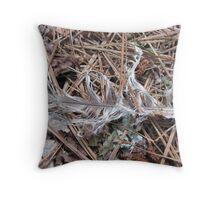 summer feather in ballground woods Throw Pillow