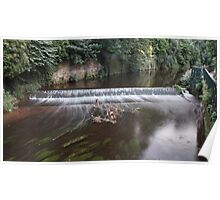 Weir near Stockbridge, Water of Leith Poster