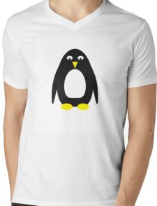 Simple cute penguin  Mens V-Neck T-Shirt