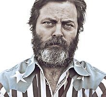 Ron Swanson (Nick Offerman) - An American Hero by chocollama