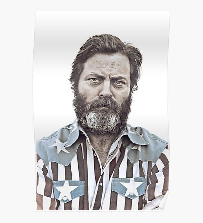 Ron Swanson (Nick Offerman) - An American Hero Poster