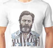 Ron Swanson (Nick Offerman) - An American Hero Unisex T-Shirt