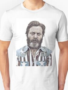 Ron Swanson (Nick Offerman) - An American Hero T-Shirt
