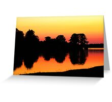Reflection's of Dusk  Greeting Card