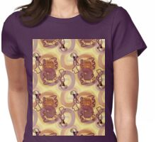 lovely lady #3, in gold Womens Fitted T-Shirt