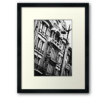 Parisian Building Art Nouveau Framed Print