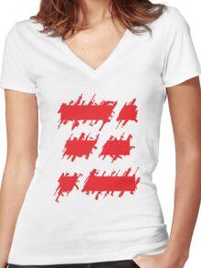 Metal Gear Online Symbol Women's Fitted V-Neck T-Shirt
