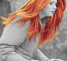 Karen Gillan- With Hair Like Fire by Maninthefez