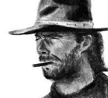 Clint Eastwood by Kristina Fekhtman