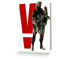 Metal Gear Solid V - Big Boss Greeting Card