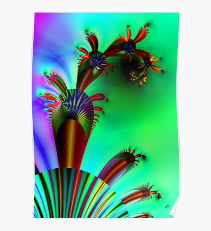Fractal Cactus Poster