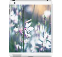 Pretty white flowers, vintage, pastel iPad Case/Skin