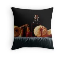 La lavande rouge Throw Pillow