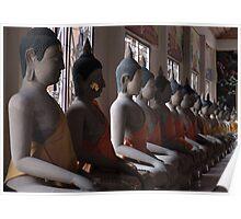 Buddha Row Poster