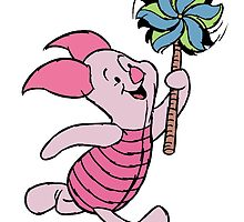 Piglet with a Pinwheel by BelovedxCisque