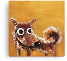 The scruffy dog Canvas Print