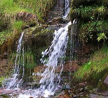 Waterfall in Brecon Beacons National Park by lezvee