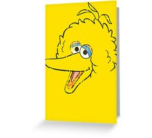 Big Bird Face Greeting Card
