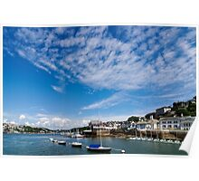 View from river Dart towards Dartmouth, Devon, England  Poster