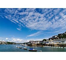 View from river Dart towards Dartmouth, Devon, England  Photographic Print