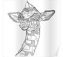 Zen Giraffe  Poster