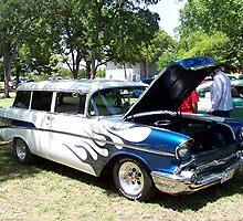 1957 Chevrolet Nomad 2-Dr Wagon by Glenna Walker