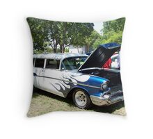 1957 Chevrolet Nomad 2-Dr Wagon Throw Pillow