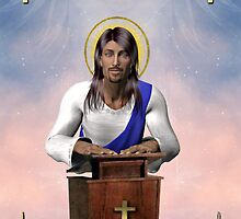 Jesus Loves You (added with gold crosses, gold hearts, gold candles and gold bibles) by EnchantedDreams